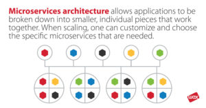 Microservices architecture infographic