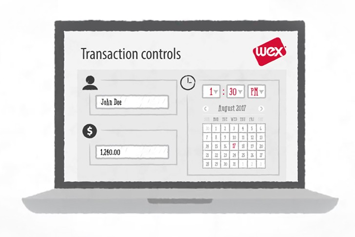 Graphic of WEX interface transaction controls
