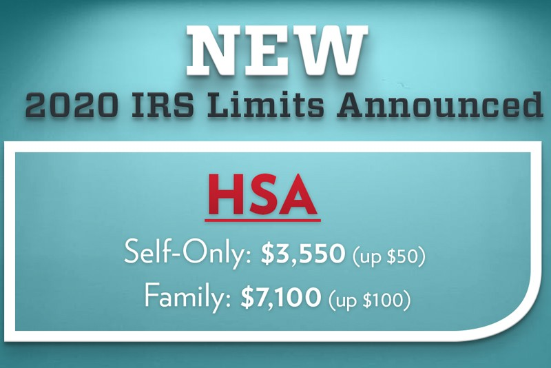 Irs Calendar 2020 New: IRS Announces HSA and HDHP Contribution Limits for 2020 | WEX