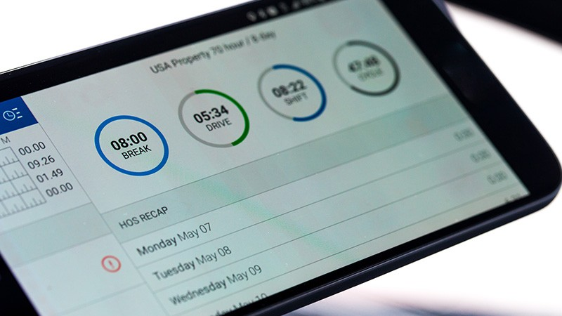 ELD data can also show driver safety scores and vehicle usage rates