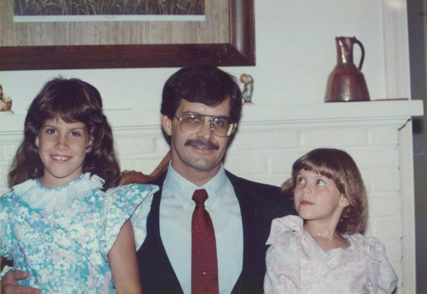 Melissa Dudley and her Dad and Sister When She Was a Child