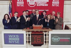 WEX executives at the NYSE on February 16, 2005, celebrating our IPO