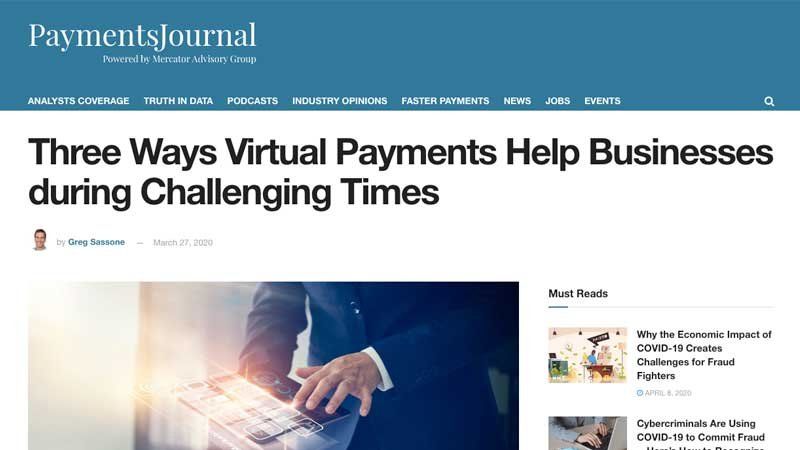 WEX's Greg Sassone Outlines How Payments Technology Can Help During COVID-19