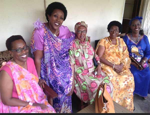 Ruvakubusa with her mother and aunties in Bujumbura