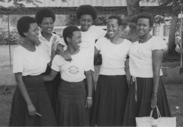 Ruvakubusa's high school class at Lycee Clarte Notre Dame in Burundi
