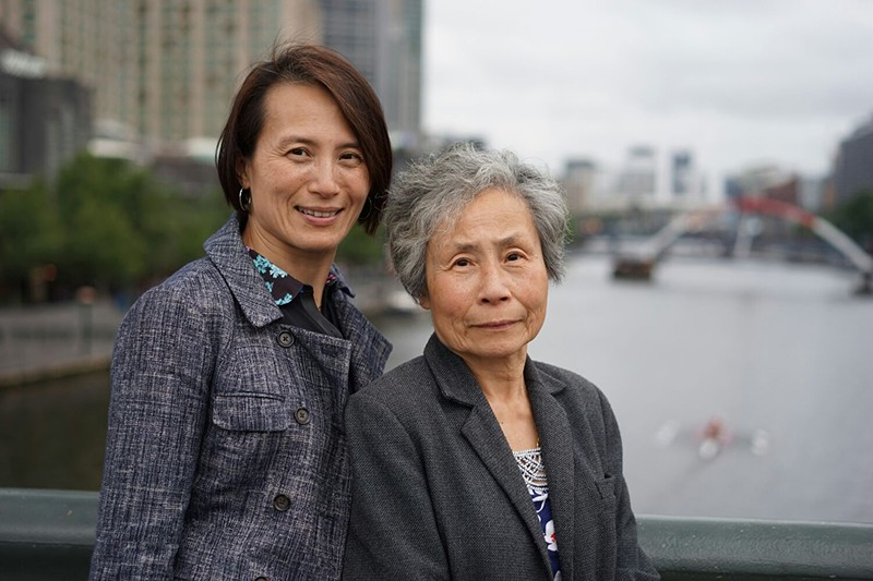 Marie Yip with her Mother in Melbourne