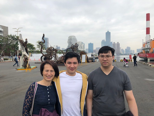 Marie Yip with her two sons