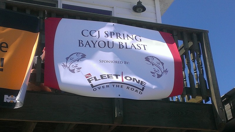 WEX Bayou Blast Welcome Sign