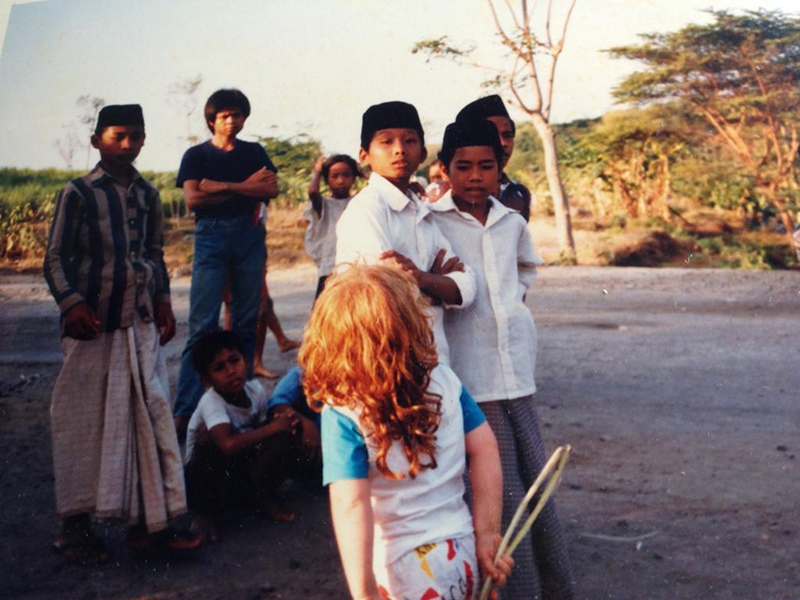 Limerick as a small girl living with her family abroad in Indonesia
