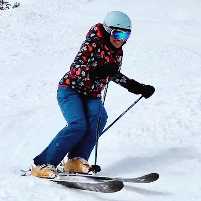 Gale showing fearlessness on the slopes